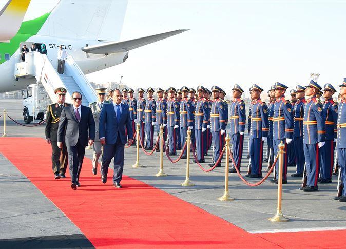 مراسم استقبال السيسى لرئيس موريتانيا
