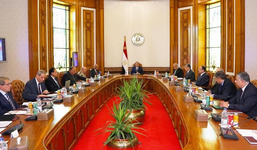 اجتماع المجلس الامن القومى برئاسة السيسى