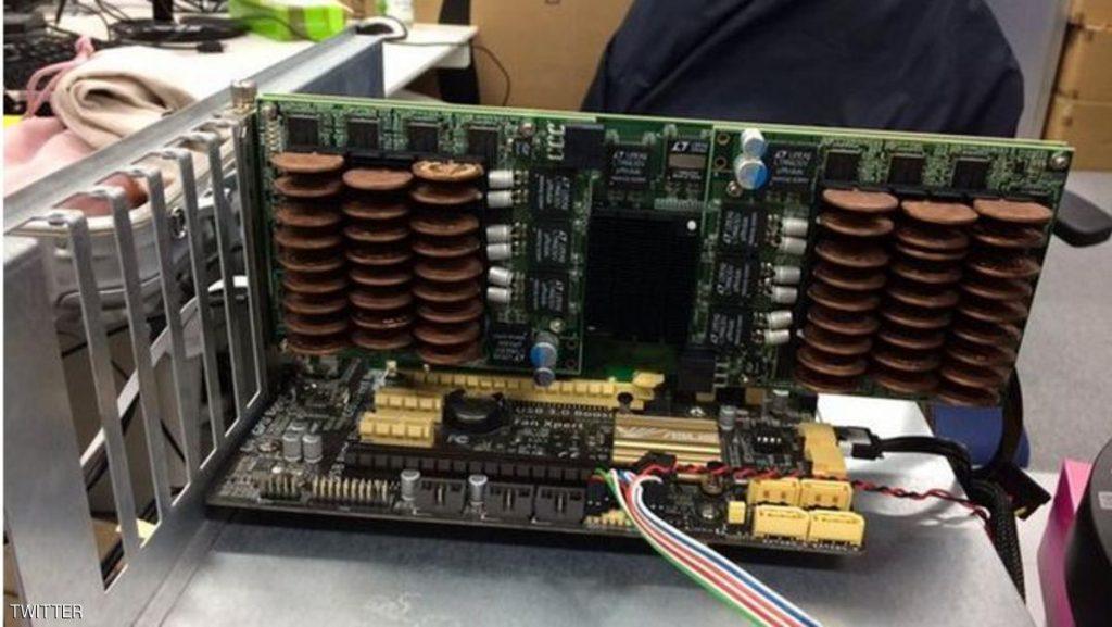 وضع عملات لخفض حرارة الكمبيوتر