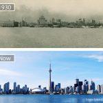 تورنتو كندا عام 1930 و اليوم