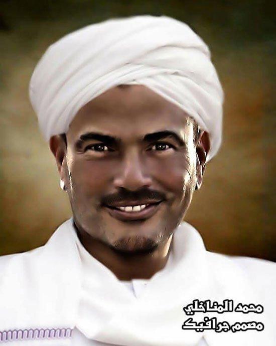 عمرو دياب فى الزى السودانى
