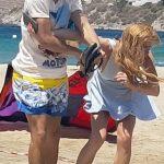 خطيب ليندساى لوهان يضربها على الشاطىء