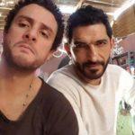 عمرو واكد وأحمد الفيشاوي في كواليس فيلم القرد بيتكلم