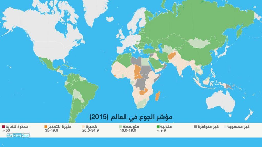مؤشر الجوع فى العالم