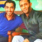 محمد رمضان ومحمد عادل في كواليس فيلم جواب اعتقال