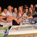 نيكول سابا والاحتفال ببدء تصوير مسلسل ولاد تسعة