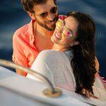 جلسة تصوير رومانسية لحنان مطاوع وزوجها