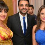 درة ودنيا عبد العزيز في حفل زفاف حنان مطاوع
