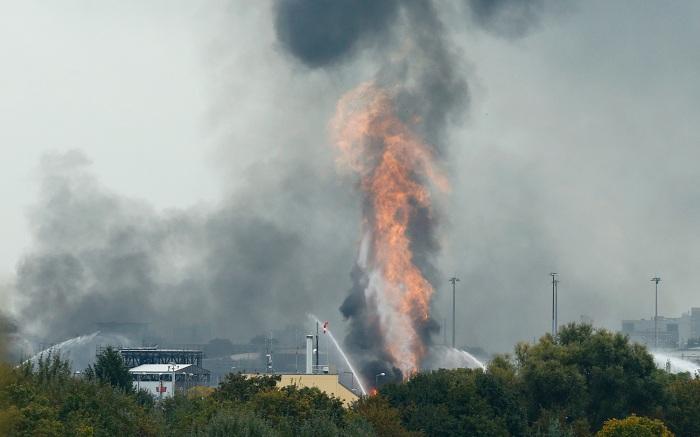 انفجار بشركة باسف الألمانية