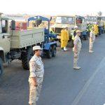 مساعدة الجيش لمتضررى السيول