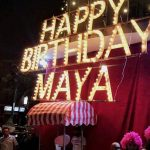 احتفال مايا دياب بعيد ميلادها