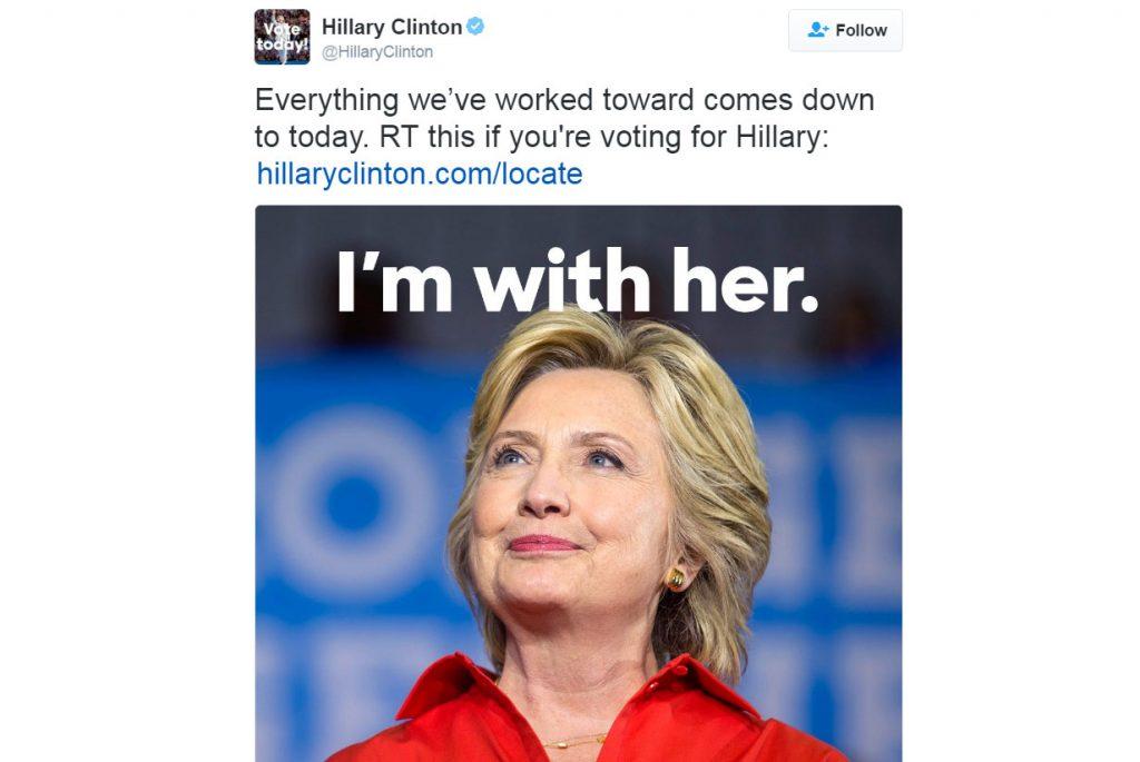 تغريدة هيلارى