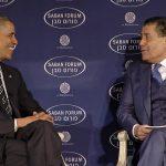 حاييم سابان مع باراك اوباما