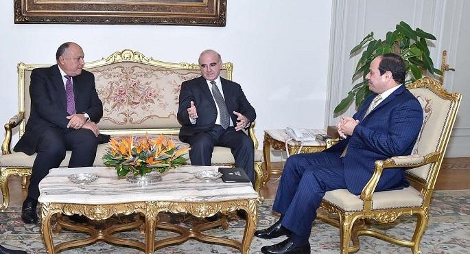 السيسى يستقبل وزير خارجية مالطا