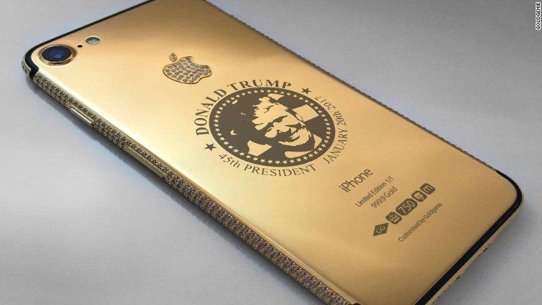ايفون ترامب الذهبى